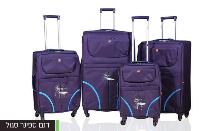 7 מזוודות SWISS בגדלים שונים