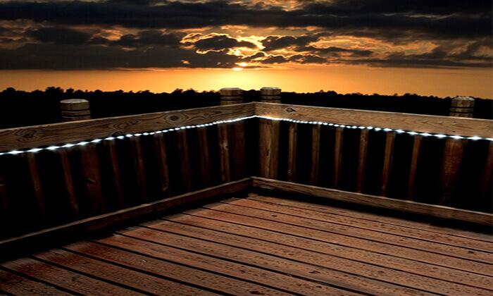 4 שרשרת נורות LED סולארית