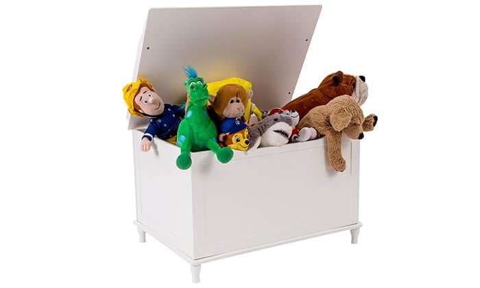 2 ארגז עץ לאחסון צעצועים