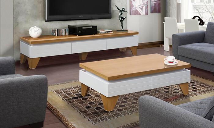 2 סט מזנון ושולחן לסלון LEONARDO