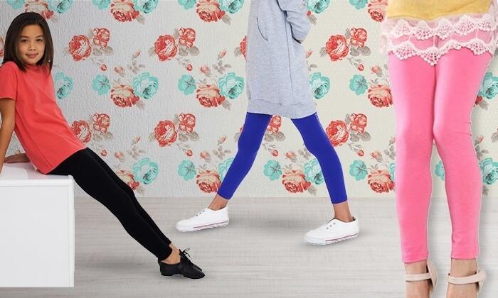 2 מכנסי טייץ תרמיים לילדות