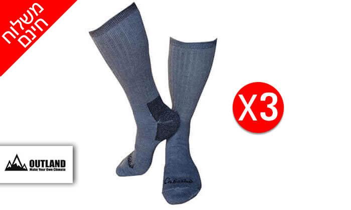 4 מארז 3 זוגות גרביים תרמיים OUTLAND לגברים ולנשים - משלוח חינם