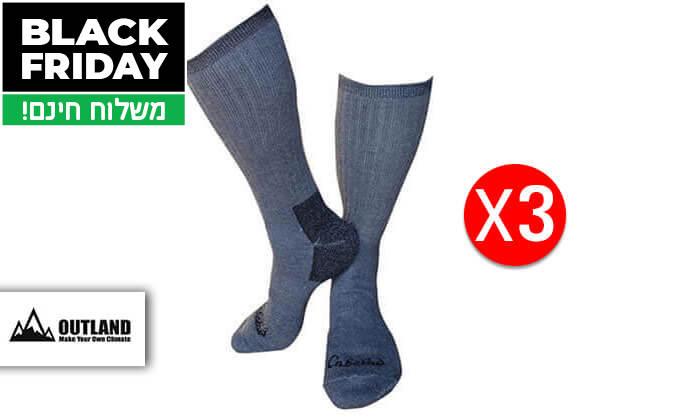 4 3 זוגות גרביים תרמיים OUTLAND יוניסקס - משלוח חינם