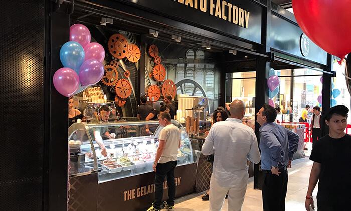 7 גלידה ב-T.A או משלוח מ-The Gelato Factory ג'לאטו ראשונים הכשרה, קניון ראשונים ראשון לציון