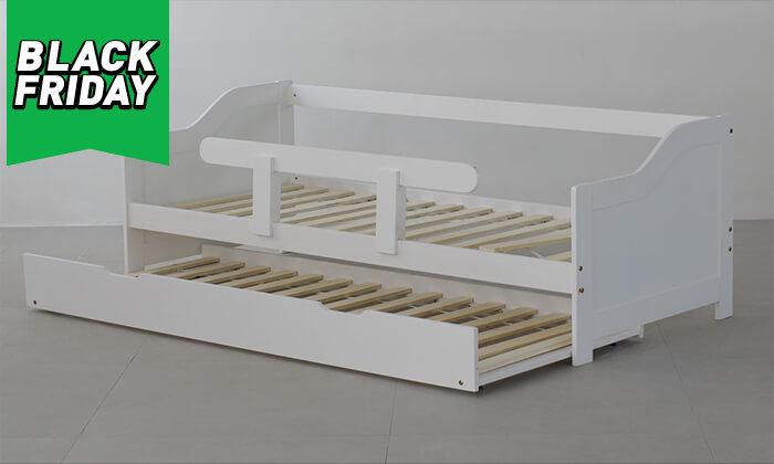 5 מיטת ילדים מעץ מלא TUTTI